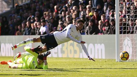 Tottenham Hotspur's Dele Alli appears to go down during their Premier League match against Crystal P