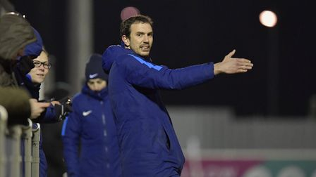 Tottenham Hotspur Ladies head coach Juan Amoros issues instructions from the touchline (pic: wusphot