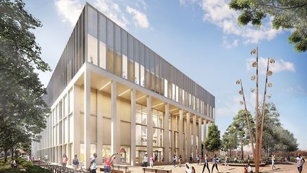 A digital impression of the proposed council-run leisure centre. Photo by Hackney Council.