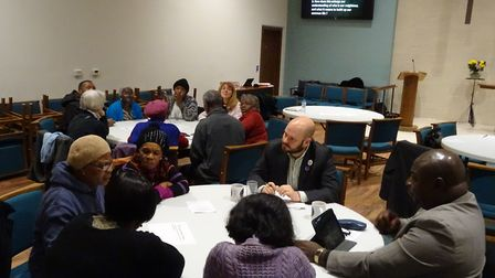 Hackney Mayor Phil Glanville joins in at one of the Lent discussions