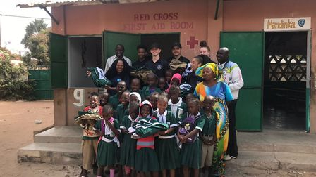 Police cadets from Hackney went to Gambia