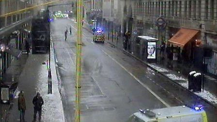 London Fire Brigade were called to Baker Street at 10.40am Picture: @TFLTrafficNews