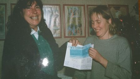 Gillian and Iven when Iven left Letterbox Library in December 1987 to move to Australia.