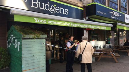 A man has been charged with robbery following a raid on Thornton's Budgens in Belsize Park. Picture: