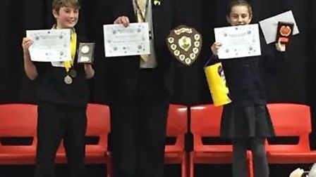 The winners of the Ormiston Denes Academy Primary School Spelling Bee. PICTURE: Julie Mayo