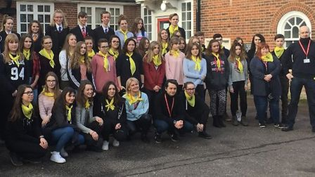 Polish students from Mielec in Poland visit Ormiston Denes Academy. PICTURE: Julie Mayo