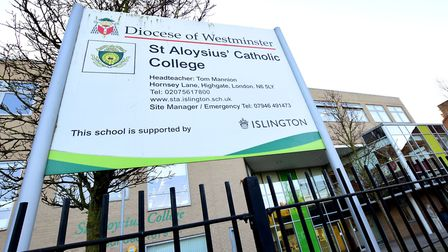 St Aloysius Catholic College in Hornsey Lane. Picture: Polly Hancock