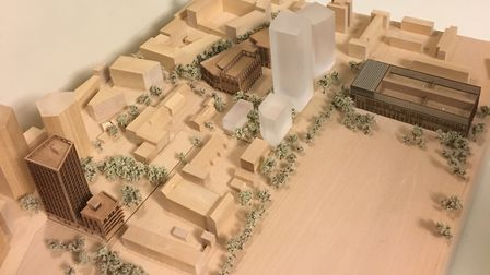 A model of the proposed Britannia development in Hoxton that was on public display. Picture: Pat Tur