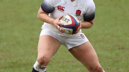 Saracens' Lauren Cattell in action for England during the NatWest Women's 6 Nations (pic Adam Davy/P