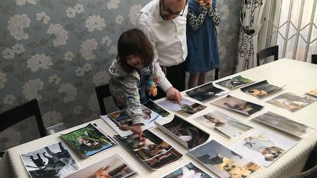 Ashley Blaker judges the finalists with his children. Picture: ASHLEY BLAKER