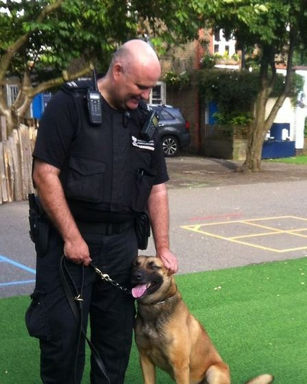 Police Dog Raz from the Heath Constabulary pictured in 2016