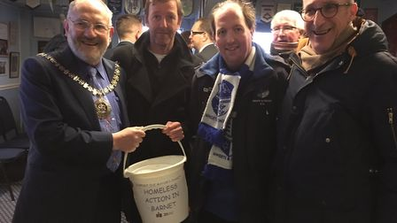 Wingate & Finchley helped raise funds for the Mayor of Barnet's chosen charity, Homeless Action in B