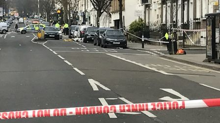 Officers were called to Malden Road, near the junction with Marsden Street, soon after the first fat