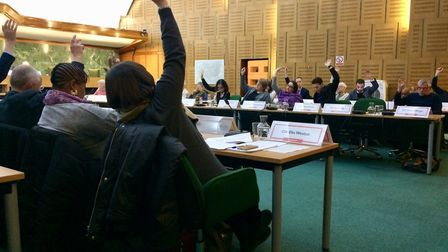 Labour councillors voted against 10 amendments tabled by the Liberal Democrat opposition. Picture: J