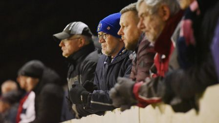 Fans turned out to watch Lowestoft Town take on Dulwich Hamlet at the Amber Dew Events Stadium. Pict