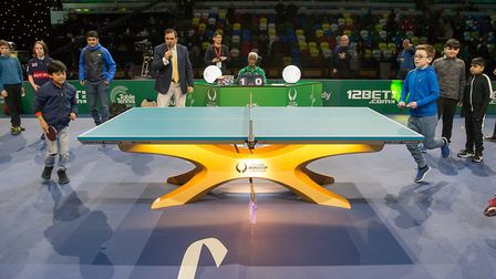 Action from the ITTF�s Team World Cup at the Copper Box (Pic: Table Tennis England)