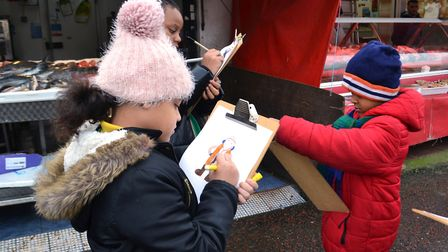 Princess May Primary School students have been using Ridley Road Market as their inspiration for an