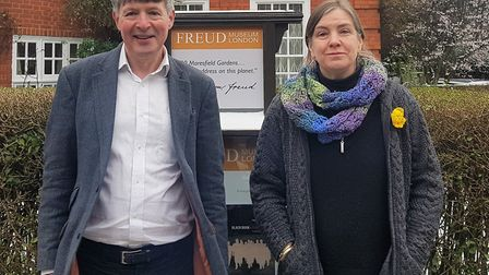 Mark Blagrove, professor of psychology and director of the sleep lab at Swansea and doctor Julia Loc