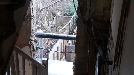 Grim conditions at a private rented home in Hackney, photographed by council officers last year. A f