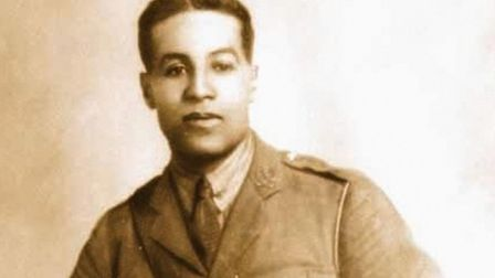 A picture of Walter Tull, one of Britain's first black footballers who played for Northampton Town,