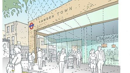 An artist's impression of the proposals for Camden Town