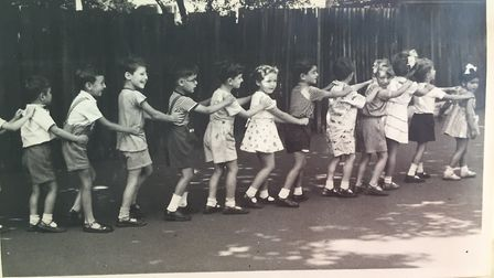 Lining up at Golders Hill School, Miss Davies. Photo by Golders Hill School