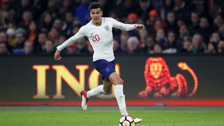 Tottenham's Dele Alli in action during England's international friendly win over Holland at the Amst