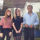 Krishna Maharaj, chief exec of Mind in the City, Hackney and Waltham Forest, with the charity's PR w