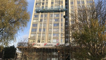 The Chalcots Estate is currently undergoing work to remove its cladding. Picture: EMILY BANKS