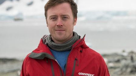 Will McCallum in the Antarctic Peninsula with Greenpeace conducting scientific research and documen