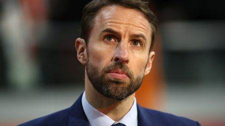 England manager Gareth Southgate during the international friendly match at the Amsterdam ArenA (pic