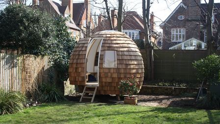 A pod installed in this back garden in Primrose Hill