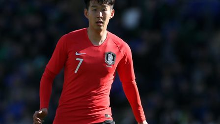 South Korea's Heung-Min Son in action against Northern Ireland (pic Brian Lawless/PA)