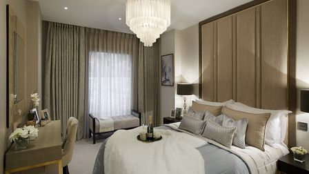 A master bedroom from one of the new Belsize Lane apartments