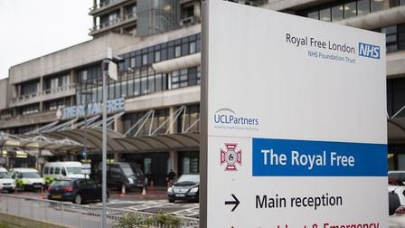 The Royal Free Hospital. Picture: DANIEL LEAL-OLIVAS/PA WIRE