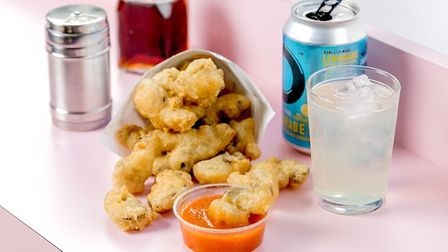 Scampi and home made chilli sauce at United Chip. Picture Justin De Souza