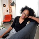 Sarah-Louise Simon in her new council flat on the King's Crescent Estate opposite Clissold Park. Pic