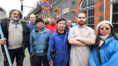Traders from Chu's Garage, E5 Bakery, Maxwell & Pinborough, and Sulamen Ozer. Picture: Polly Hancock