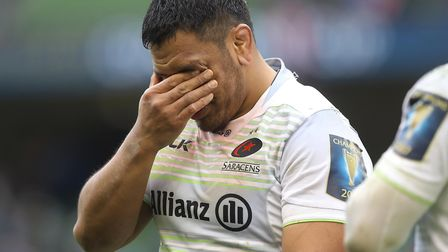 Mako Vunipola of Saracens is gutted after the European Champions Cup quarter-final loss to Leinster