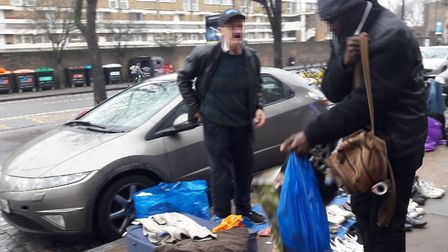 Five traders were arrested in the operation. Picture: Hackney Council