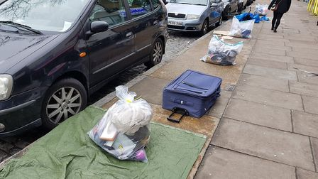 The bags seized in Kingsland Road. Picture: Hackney Council