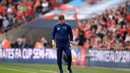 Tottenham Hotspur manager Mauricio Pochettino on the touchline during the Emirates FA Cup semi-final