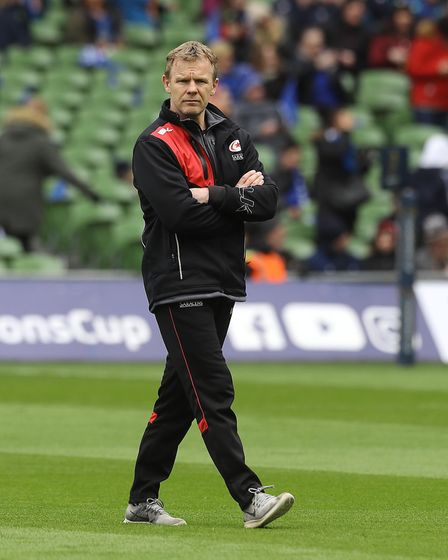 Saracens' Marc McCall before the quarter final of the European Champions Cup match at The Aviva Stad