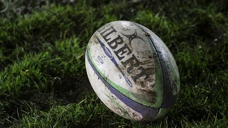A rugby ball lies by the side of the pitch (pic Jamie Pluck)