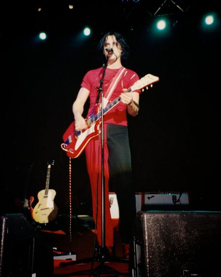 Jack White on stage in May 2003, shortly after Elephant was released. Picture: Aurellen Gulchard (CC