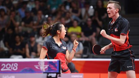Tin-Tin Ho and Liam Pitchford of England (pic: Matt Roberts/Getty)