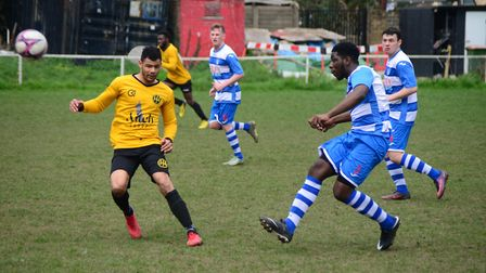 Ilford in action against Hackney Wick (Pic: Tim Edwards)