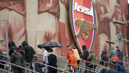 Fans arriving for a recent match at the Emirates Stadium, London. Picture: TIM GOODE/PA IMAGES