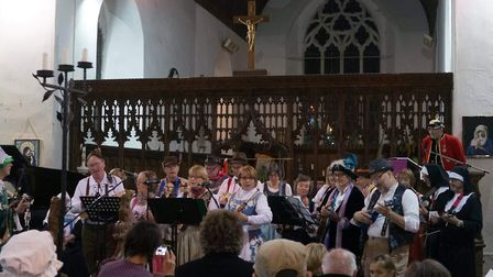 The Somerleyton Strummers during a previous performance at Blundeston Church. photo: Somerleyton Str