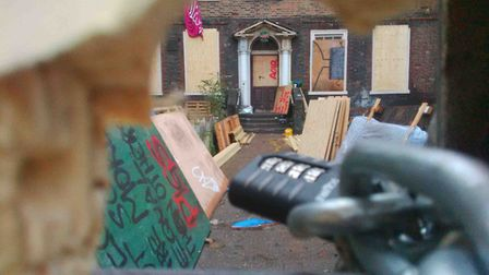 Squatters were again evicted in December 2016. Picture: Rossana Tich